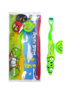 Angry Birds Green Pig Travel Toothbrush Kit - Angry Birds Toothbrush