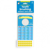 Tooth Brushing Stickers and Chart for Morning and Nighttime, hooks onto door knob!