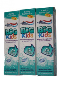 Aquafresh Big Kids Fresh Mint Toothpaste 3-pack, 120ml Each