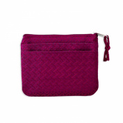 Zip Wallet (Small) - Silk Jacquard