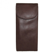 ILI Womens Leather Double Eyeglass Holder Case