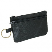 CTM® Unisex Leather Cards Keys and Coin Holder