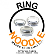 Ring Guard by RING NOODLE (SET OF THREE 1-narrow, 1-medium, 1-wide) Ring Size Reducer, Ring Size Adjuster