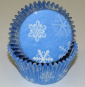 Snowflake Cupcake Liners Baking Cups Standard Size 50 Count Frozen Party