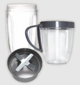 Nutribullet Cup & Blade Replacement Pack - 4pc. includes Tall Cup, Short Cup with Lip Ring & Extractor Blade