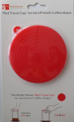"""The Red Travel Cap"" for AeroPress® Coffee Maker by The Handy House"