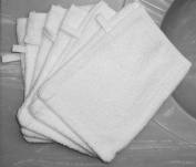 Bath Mitts - Package of 6 - (15cm x 20cm ) 100% cotton terrycloth