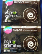 2 Godrej Expert Creme Hair Colour No Ammonia with Aloe Protein Black Brown Ultra Soft Long Lasting