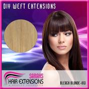Full Head DIY Hair Weft / Weave Extensions - Bleach Blonde #613 - Any Length!