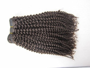 20cm - 70cm brazilian Virgin Hair Kinky Curl,100% Human Hair Weave Extension Grade 5a Unprocessed Hair 1b Natural Colour