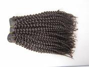 20cm - 70cm brazilian Virgin Hair Kinky Curl,100% Human Hair Weave Extension Grade 5a Unprocessed Hair 1b Natural Colour