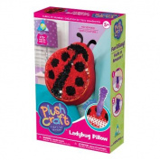 Plush Craft Ladybug Pillow