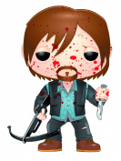 The Walking Dead Bloody Biker Daryl Dixon Previews Exclusive Pop Vinyl Figure