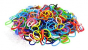 """Colourful Silicone LOOM BANDS - 600 Bands & 25 """"S"""" Clips!"""