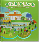 Happy Day Sticker Book for Collecting and Trading Starter Kit with 3 Puffy Sticker Packs - Seedling Green