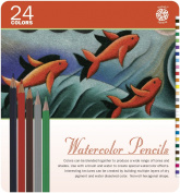 Pentalic Art 24-Piece Watercolour Pencil Tin Set