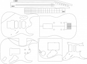 Electric Guitar Routing Template - Jem7