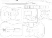 Electric Guitar Routing Template - Jem