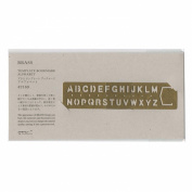 Midori Brass Bookmark Alphabet Template