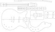 Electric Guitar Routing Template - DAN