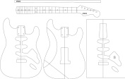 Electric Guitar Layout Template - STRATS