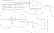 Electric Guitar Layout Template - Stang