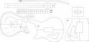 Electric Guitar Layout Template - PRS22