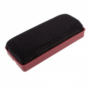 Red Plastic Shell Black Velvet Wipe Cleaner Blackboard Eraser