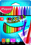 Maped Helix USA Colour'Peps Plasticlean Crayons, Pack of 12