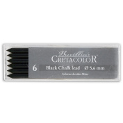 Cretacolor Artist Lead Black Chalk 6/Pack