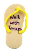 Sunday School Supply or Teacher Gift Walk with Jesus 5.1cm Rubber Flip Flop Eraser