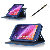 ProCase ASUS MeMO Pad 7 (ME176CX, ME176C) Dual View Case (horizontal and vertical display) - Rotating Cover Case with Stand exclusive for 2014 ASUS MeMO Pad 7 (ME176CX, ME176C) Tablet, with bonus procase Stylus Pen