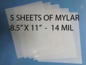 Heavy Duty 14mil Mylar Stencil Sheets - .36cm Thick Polyester Sheet 22cm x 28cm