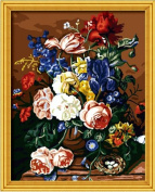 Diy oil painting, paint by number kit- Happy 16*50cm .