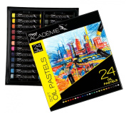 Mead Academie Oil Pastels, 24 per Box, Assorted