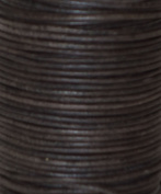 Natural Dye Dark Brown Round Leather Cord 5.0mm x 25m BEST VALUE!