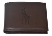 Polo Ralph Lauren Leather Bifold Wallet Big Pony Brown