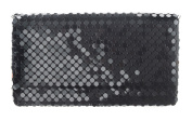 Black Mesh Clutch Purse by Ganz