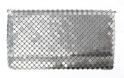 Silvertone Mesh Clutch Purse by Ganz