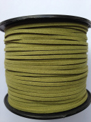 Black Faux Suede Leather Lace Cord String 3mm 100yds per roll spool DIY