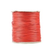 1 piece for 170m Korea Waxed Cotton Cord Colour Orange Red Size 1.5x1.5mm