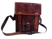 Men's 28cm Genuine Leather Cross Body Vintage Shoulder Messenger Satchel Ipad Tab Bag