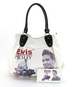 Elvis Presley Large Purse Wallet Set, EL68320, Elvis on Motorbike, New 2014