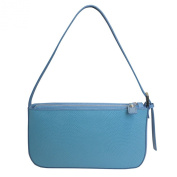 Nicoli 'Eleganza' Designer Italian Leather Petite Bag - Blue