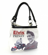 Elvis Presley Medium Handbag, EL6833, Elvis on Motorbike, New 2014