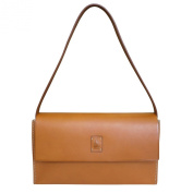 Toscanella Italian Leather East West Baguette - Tan