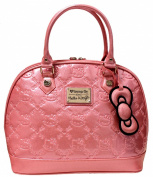 Loungefly Hello Kitty Pink Glitter Patent Embossed Tote