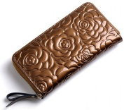 Yingbaile Womens Patent Leather Wallet Purse Floral Wallet