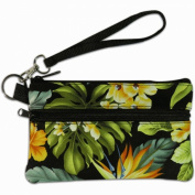 Island Impressions Wristlet Tropical Floral Green, Yellow, Black One Size