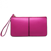 TinoTrade Leather Wristlets Wallet Cute Candy Colours Womens Clutch Purse